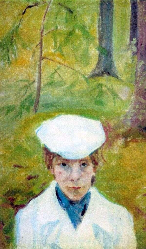 Portrait of E. G. Guro by Mikhail Matyushin