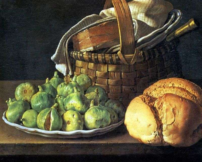 Still life with figs by Luis Melendez