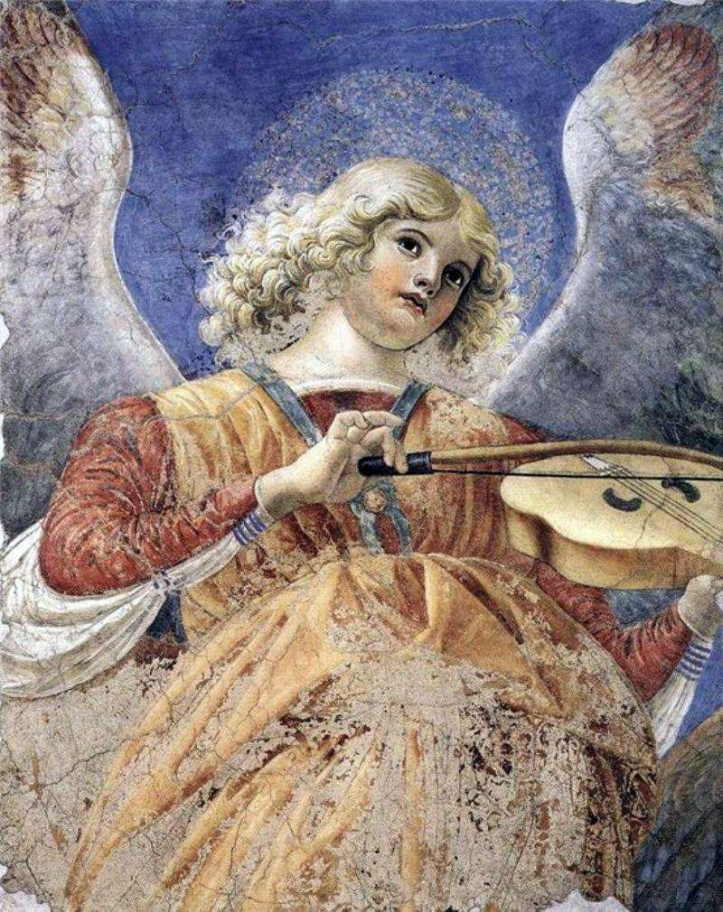 Angel playing the viola. Fragment of fresco from the church of Santi Apostoli by Forli Melozzo