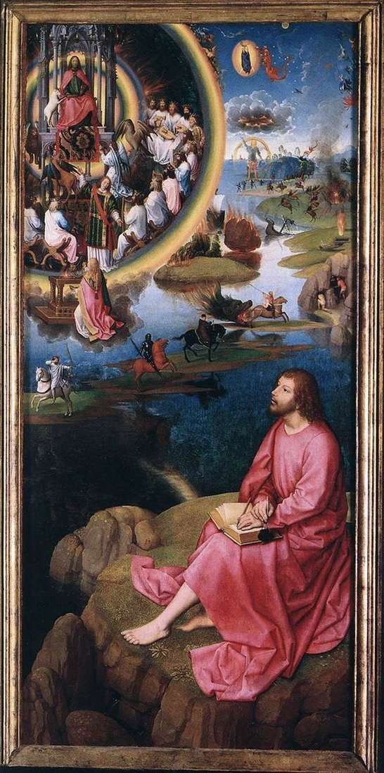The altar of the two john. Right wing by Hans Memling