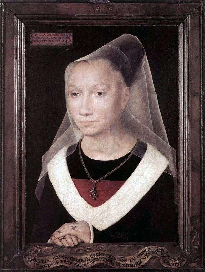 Portrait of Maria Morel by Hans Memling