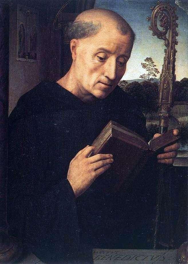 Saint Benedict by Hans Memling