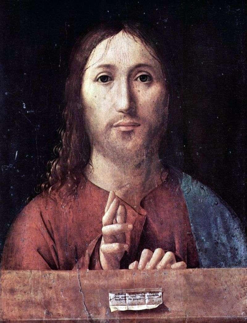Blessing Christ by Antonello da Messina