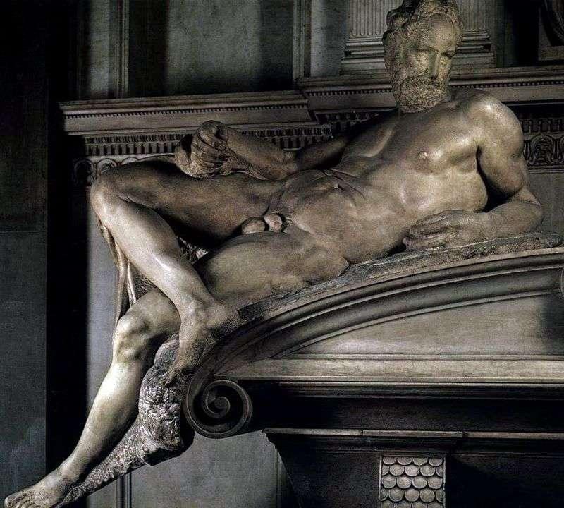 Evening (sculpture) by Michelangelo Buonarroti