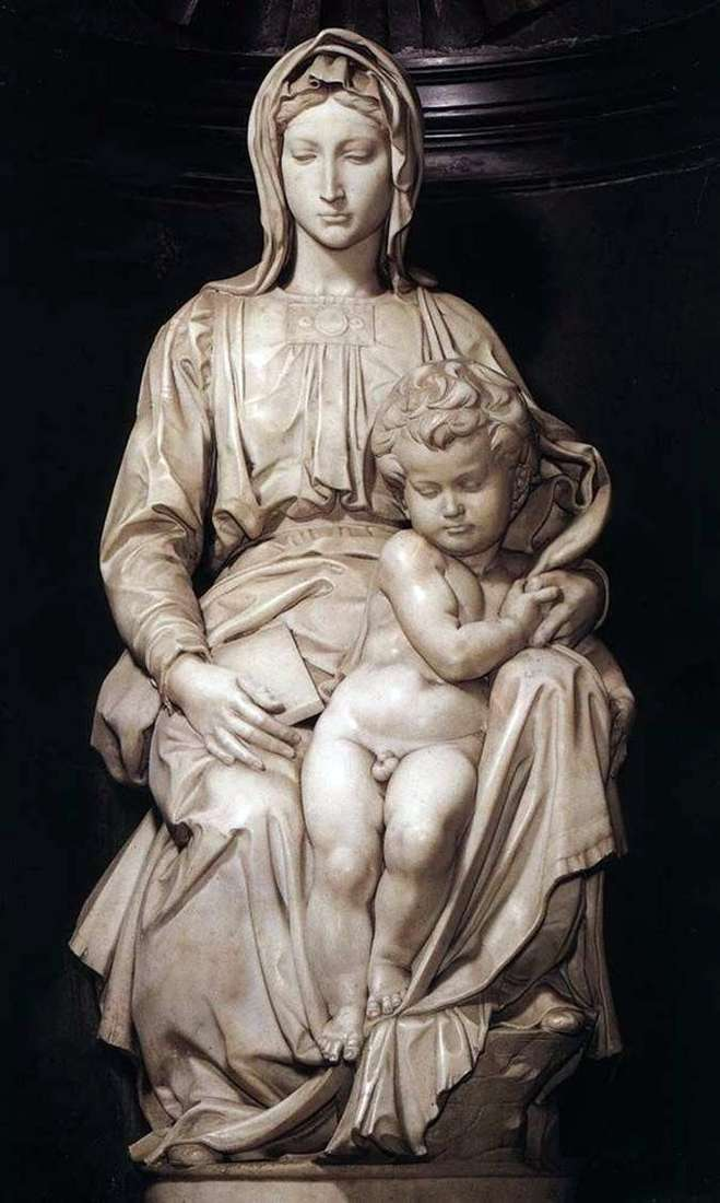 Madonna and Child (sculpture) by Michelangelo Buonarroti