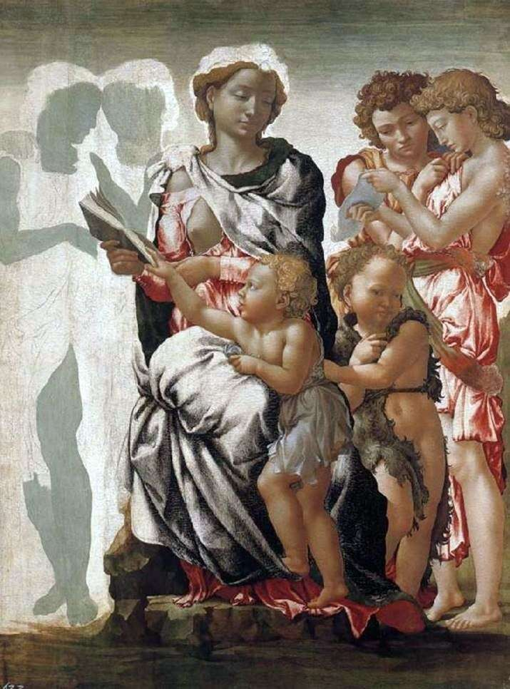 Madonna and Child, John the Baptist and the Angels by Michelangelo Buonarroti