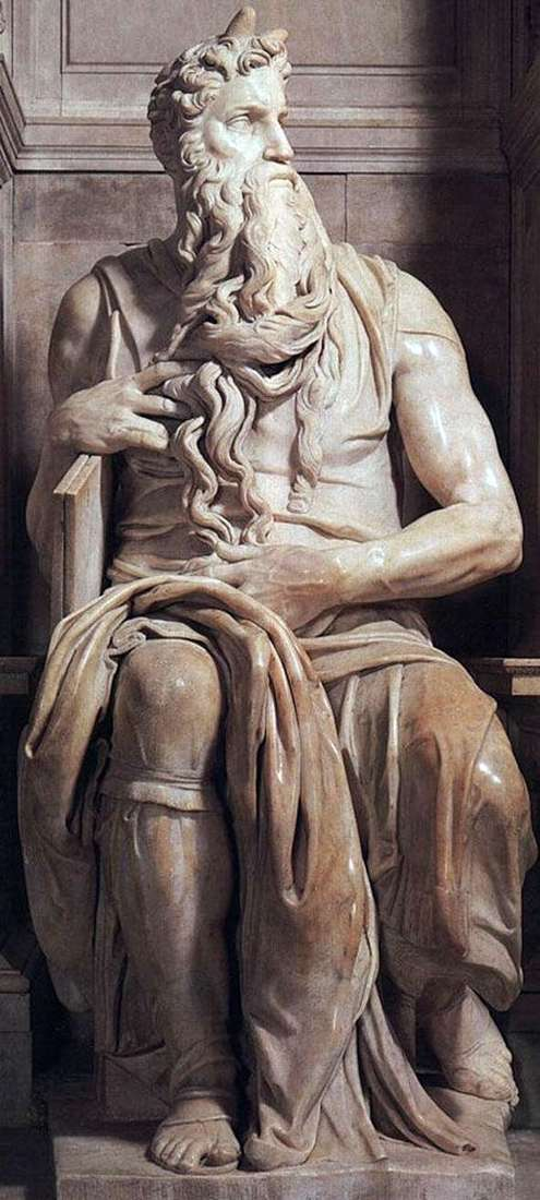 Moses (sculpture) by Michelangelo Buonarroti