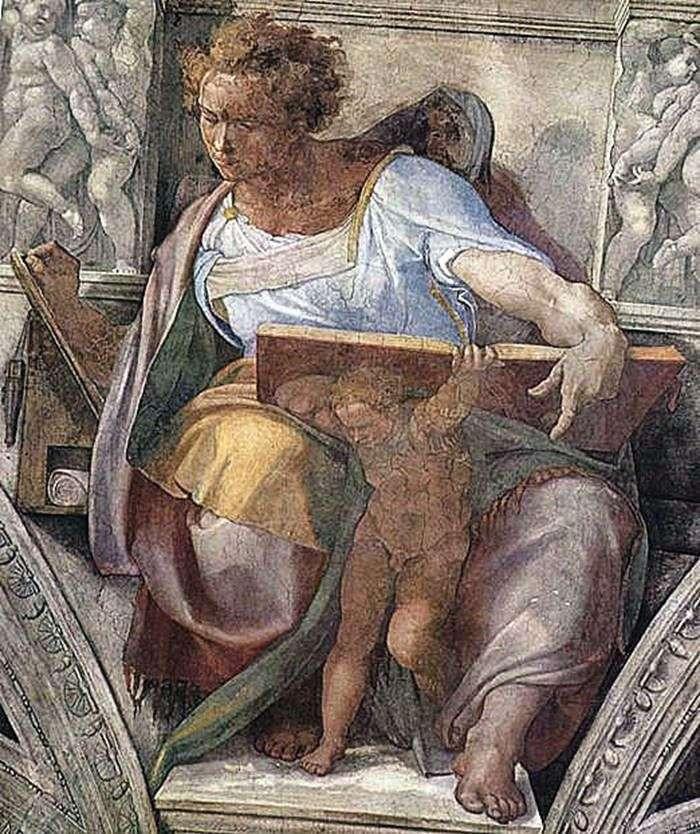 Prophet Daniel (Fresco) by Michelangelo Buonarroti Buonarroti