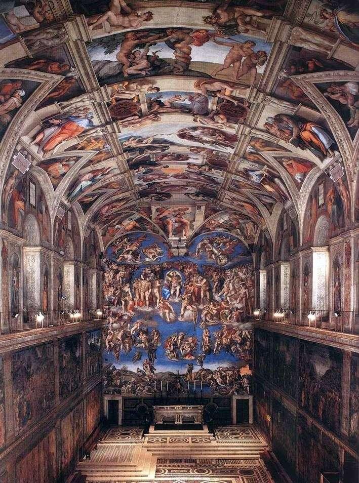 Interior of the Sistine Chapel by Michelangelo Buanarrotti