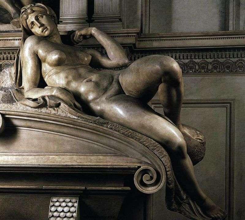 Morning (sculpture) by Michelangelo Buonarroti