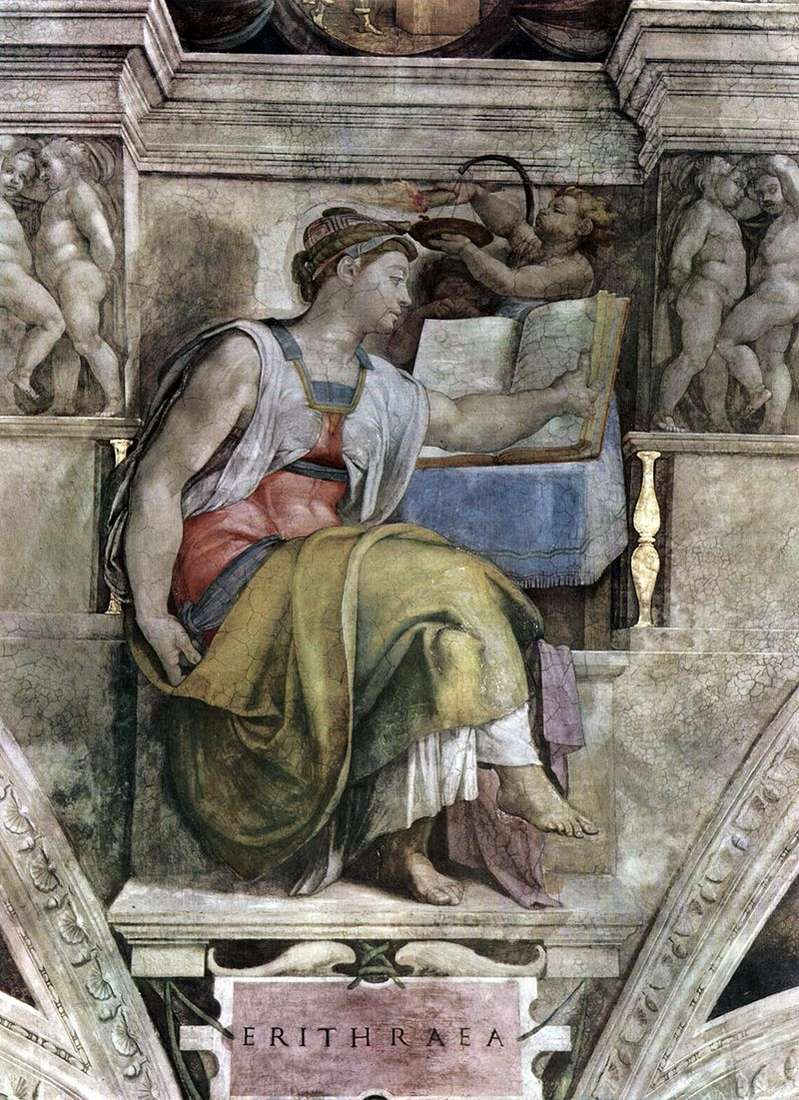 Eritrean Sibyl (fresco) by Michelangelo Buonarroti