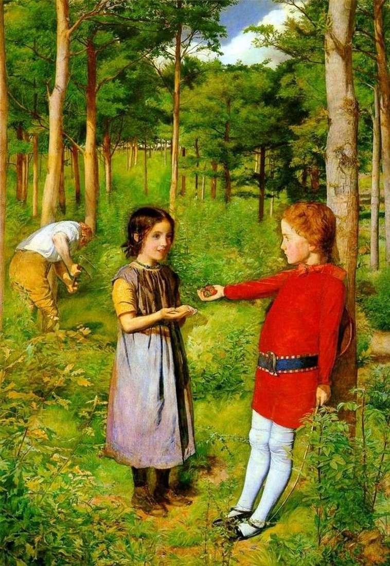 The Woodcutters Daughter by John Everett Millais