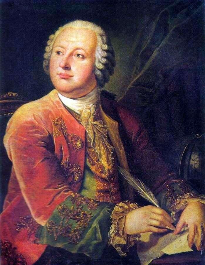 Portrait of M. V. Lomonosov by Leonty Miropolsky