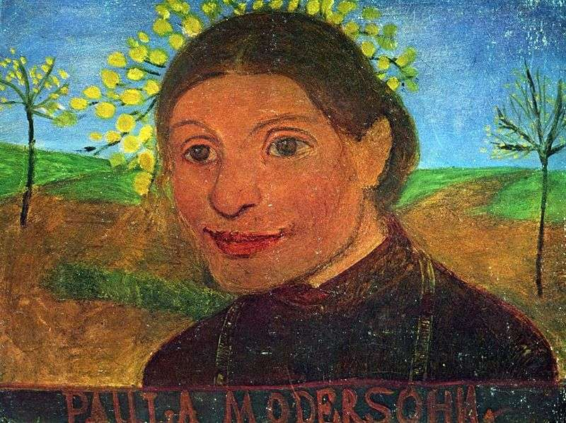 Self Portrait Against Flowering Trees by Paula Modersohn Becker