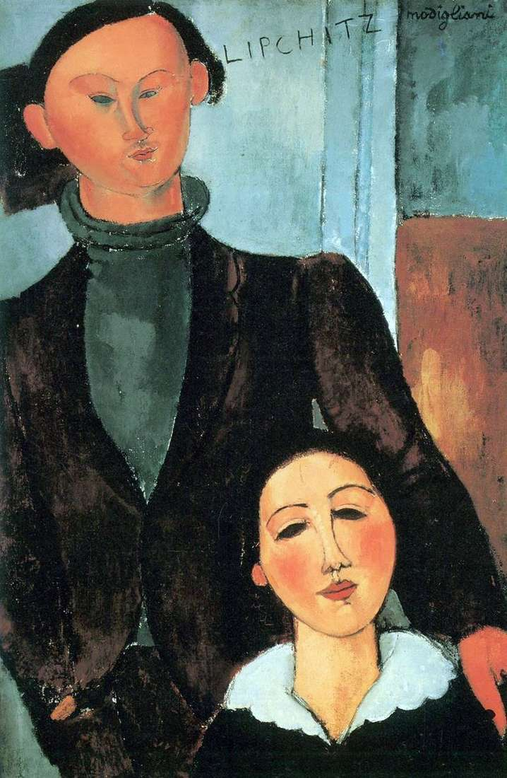 Jacques Lipschitz and his wife Berta by Amedeo Modigliani