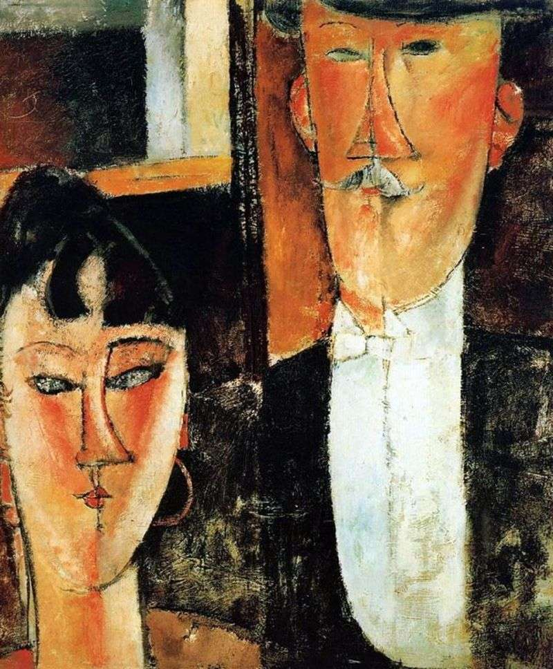 Bride and Groom by Amedeo Modigliani