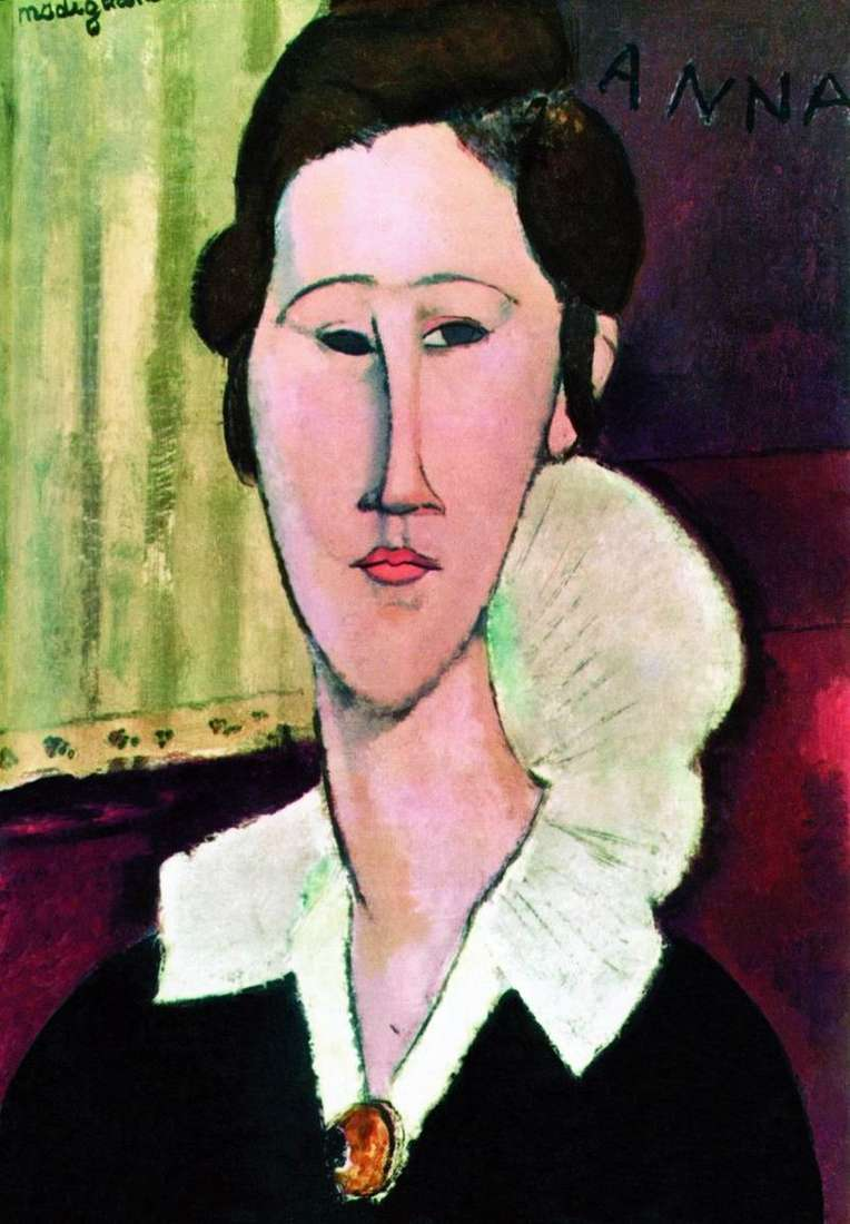 Portrait of Khanka Zborovska by Amadeo Modigliani
