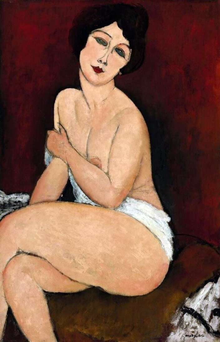 Seated nude on the couch by Amedeo Modigliani