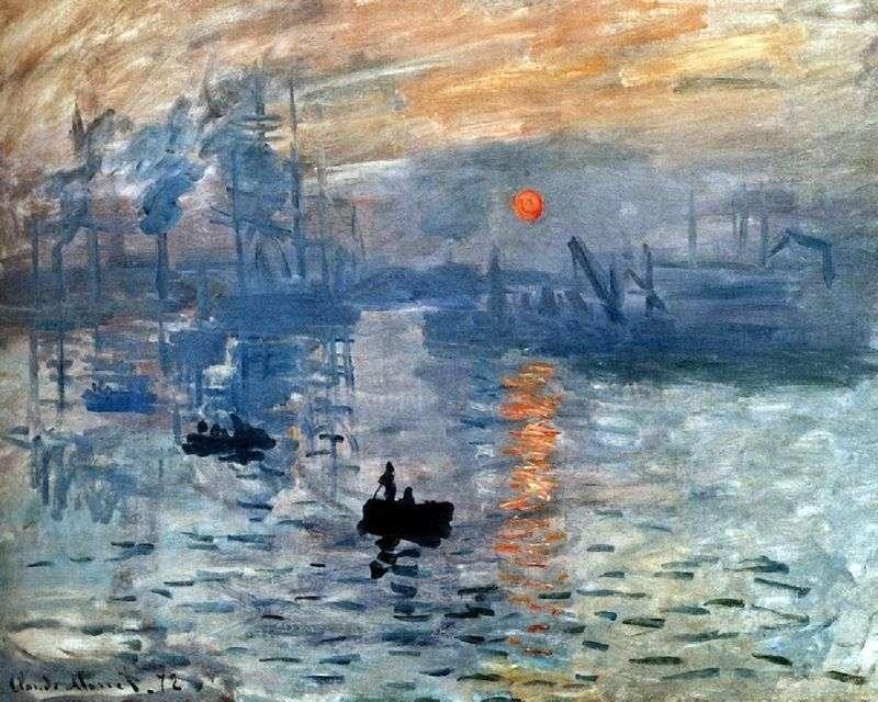 Impression. Sunrise by Claude Monet