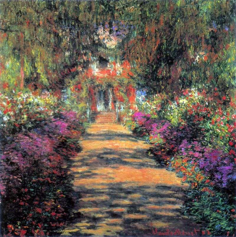 The Landscape Gardener: Main Path Through The Garden In Giverny By Claude Monet