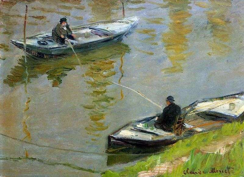 Two anglers by Claude Monet
