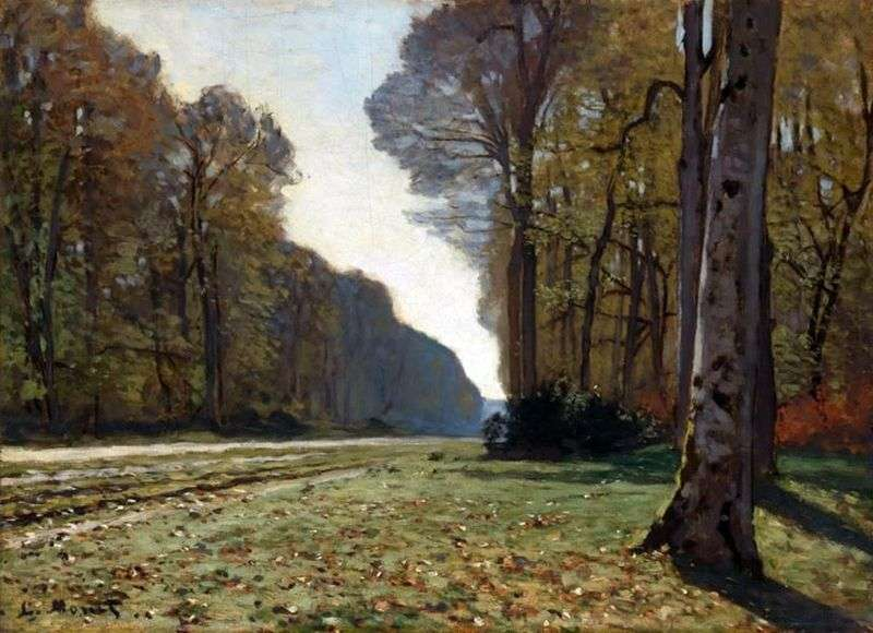 The road to Bass Bro, Fontainebleau by Claude Monet