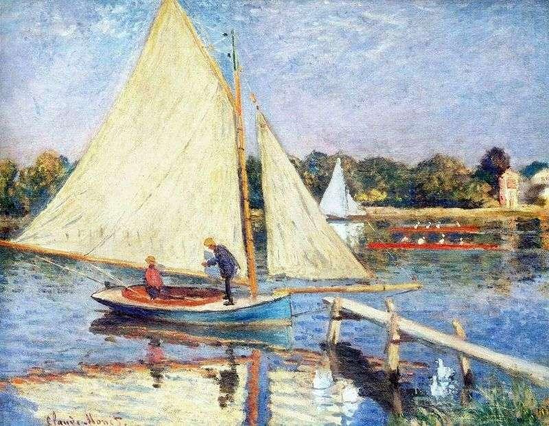 Boats near Argenteuil by Claude Monet