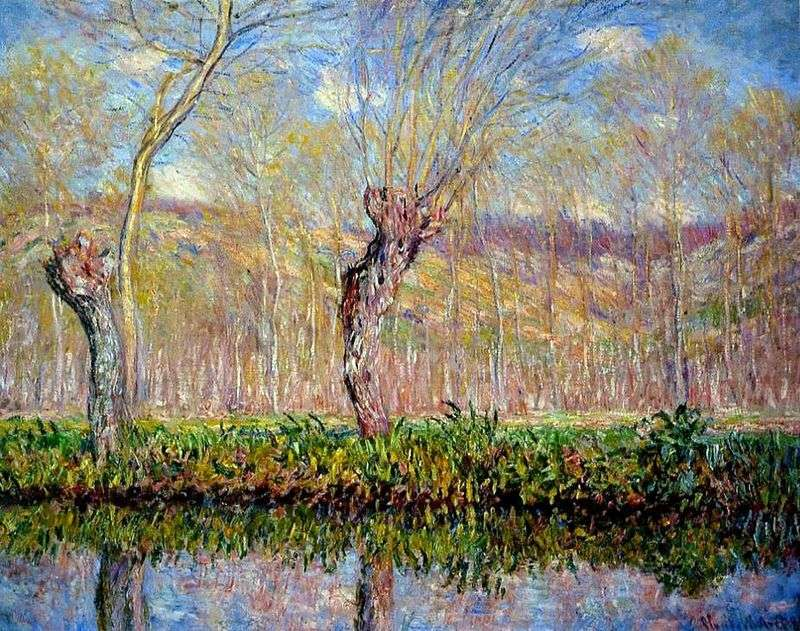 The shallows on the river in the spring by Claude Monet