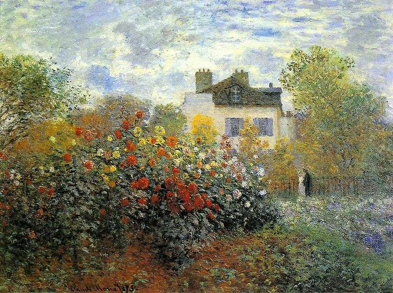 Garden in Argenteuil (Gergins) by Claude Monet