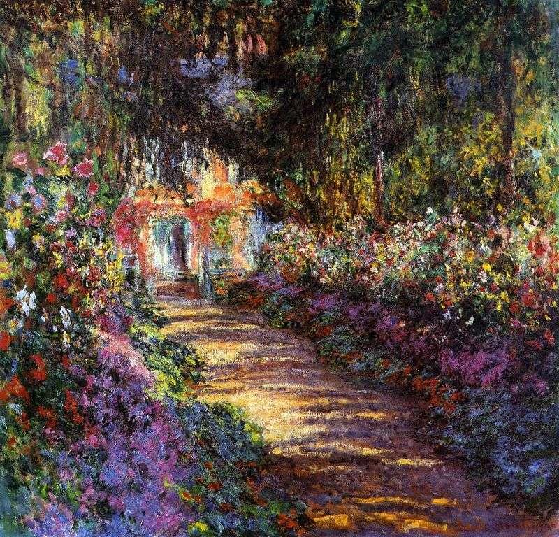 Garden in bloom by Claude Monet
