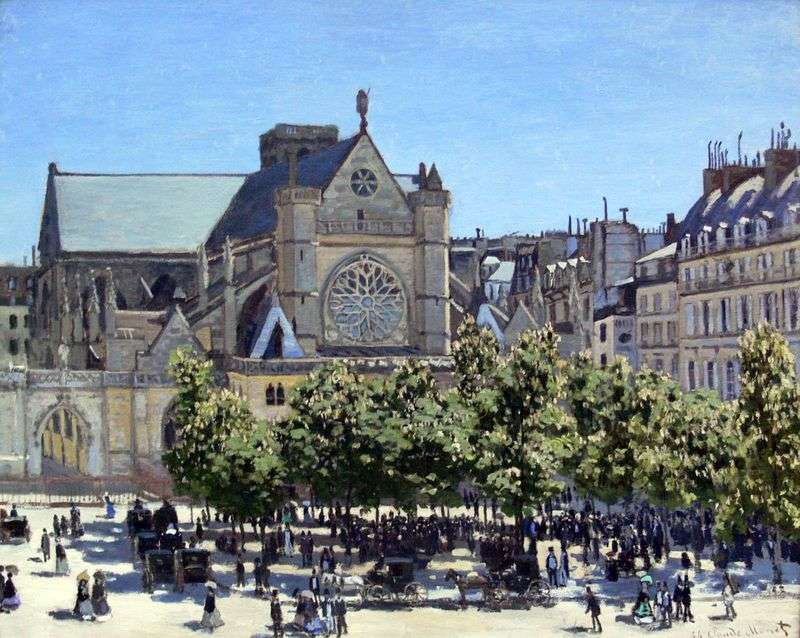 Saint Germain LAuxerroy by Claude Monet