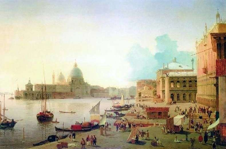 Embankment of the degli Schiavoni in Venice by Alexander Mordvinov