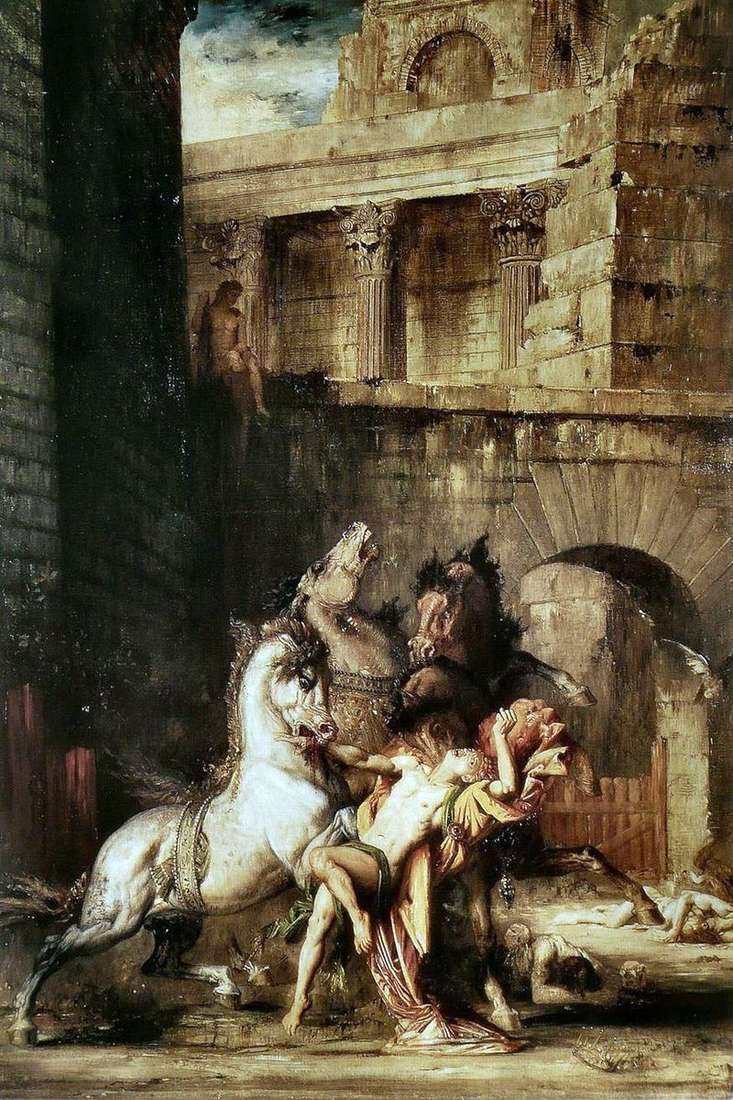Diomedes devouring his horses by Gustave Moreau