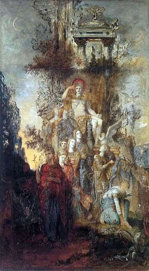Muse, leaving his father Apollo by Gustave Moreau