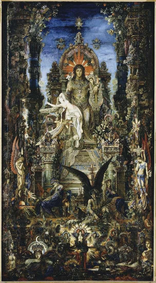 Jupiter and Semela by Gustave Moreau