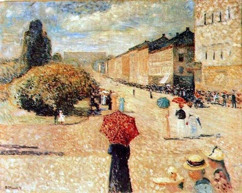 Spring Day at Karl Johans Gate by Edvard Munch