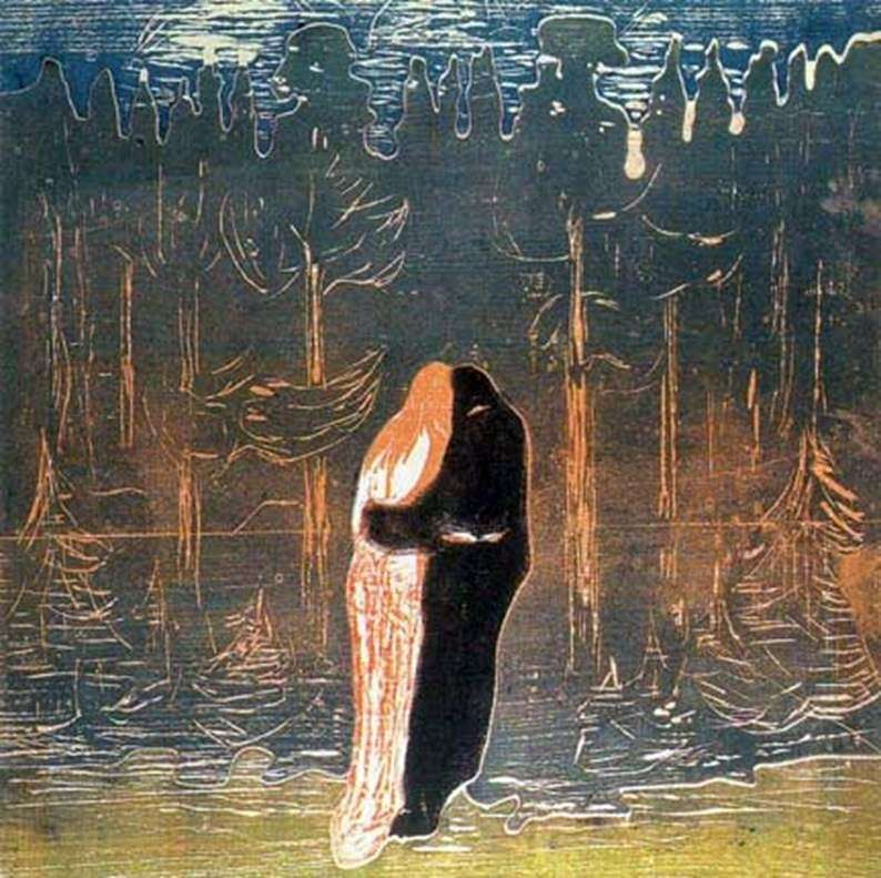 Lovers by Edvard Munch