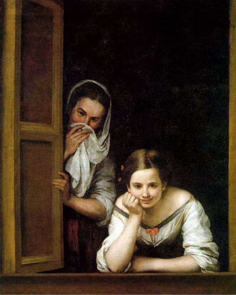 The girls in the window by Bartolome Esteban Murillo