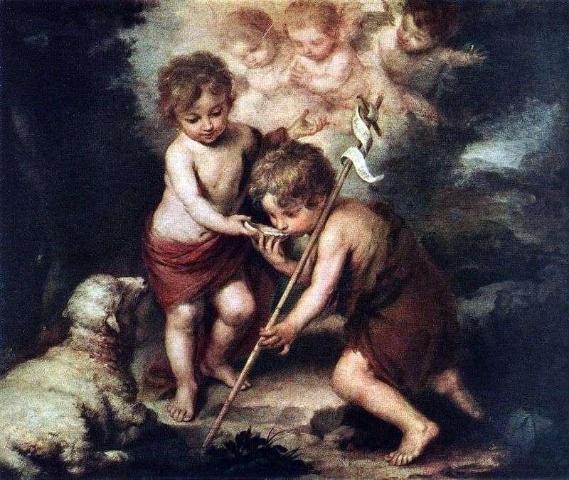 Children with a Lamb by Bartolomeo Esteban Murillo