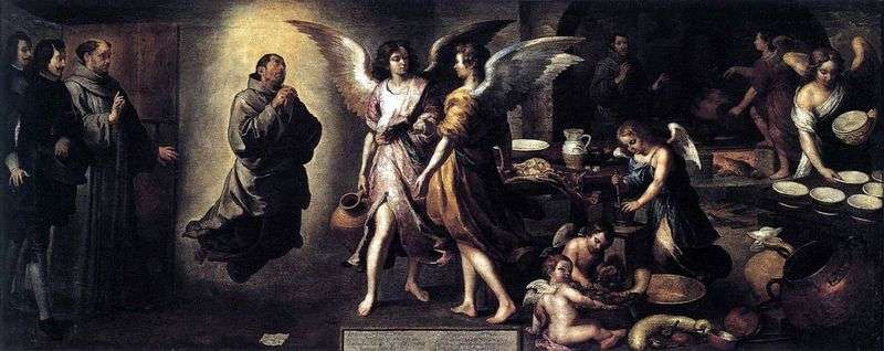 The Kitchen of Angels by Bartolomeo Esteban Murillo