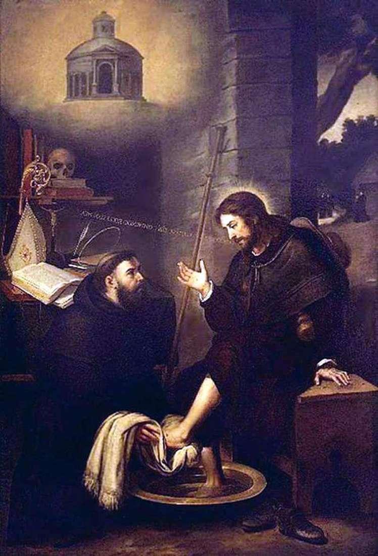 St. Augustine Washing the Feet of Christ by Bartolomeo Esteban Murillo