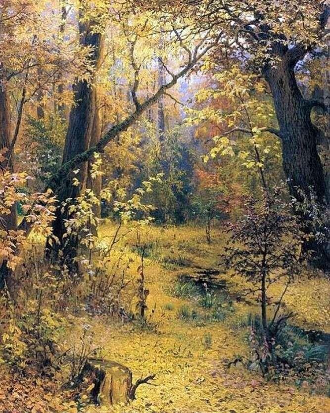 Autumn morning by Grigory Myasoedov