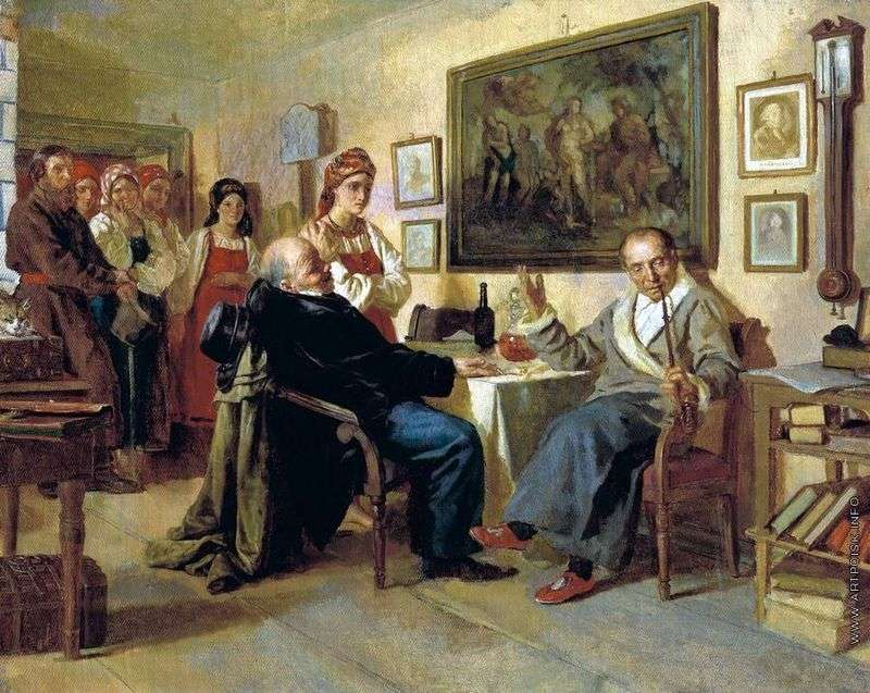 Bargain. Scene from serfdom life. From the recent past by Nikolay Nevrev