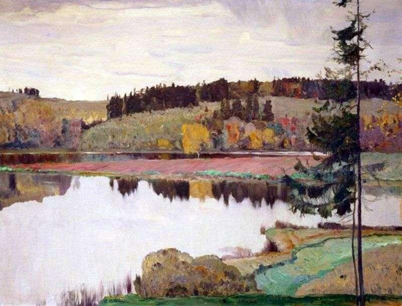 Autumn Landscape by Mikhail Nesterov