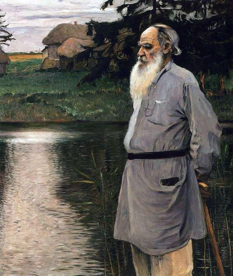 Portrait of L. N. Tolstoy by Mikhail Nesterov