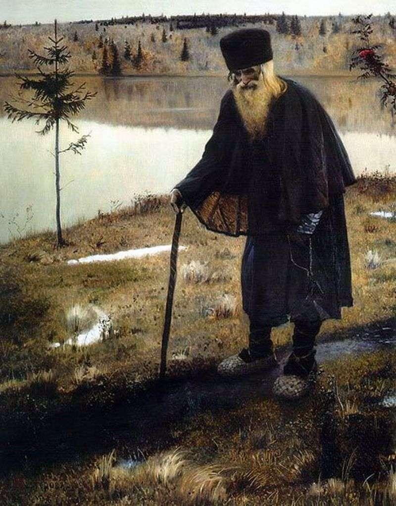 The Hermit by Mikhail Nesterov