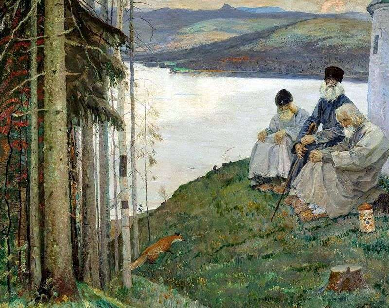 Three Elders by Mikhail Nesterov