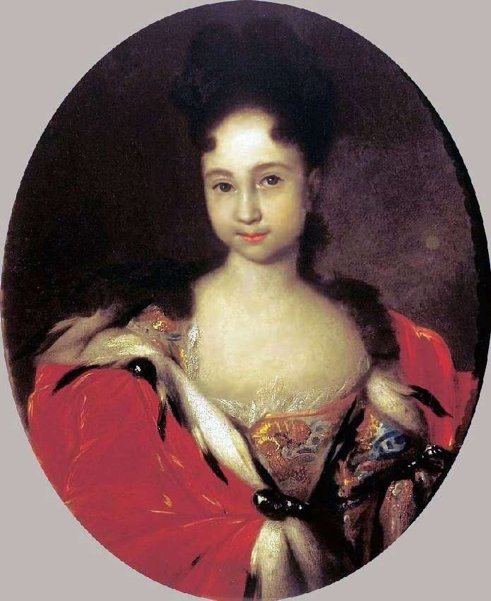 Portrait of Anna Petrovna, daughter of Peter 1 by Ivan Nikitin