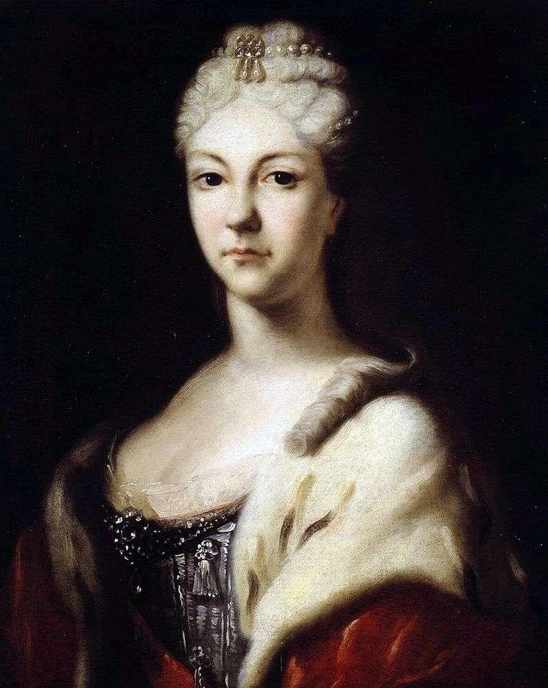 Portrait of Tsarevna Natalia Alekseevny by Ivan Nikitin