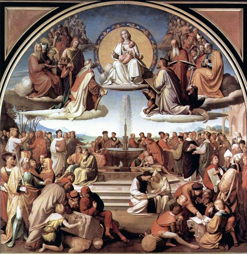 The Triumph of Religion in the Arts by Johann Friedrich Overbeck